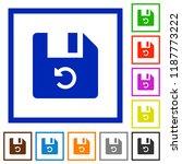 undo last file operation flat...   Shutterstock .eps vector #1187773222