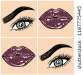 illustration with collage of... | Shutterstock .eps vector #1187775445