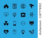 16 energy icons with plug and... | Shutterstock .eps vector #1187778502