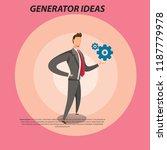 business man flat illustration | Shutterstock .eps vector #1187779978