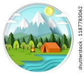 summer camping background in...   Shutterstock . vector #1187783062