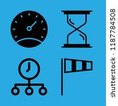 measurement icons set with time ... | Shutterstock .eps vector #1187784508