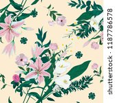 seamless floral pattern with... | Shutterstock .eps vector #1187786578