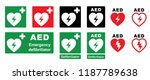 emergency defibrillator aed aid ... | Shutterstock .eps vector #1187789638