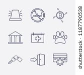 outline 9 sign icon set. credit ... | Shutterstock .eps vector #1187790538
