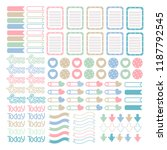 scrapbooking stickers vector.... | Shutterstock .eps vector #1187792545