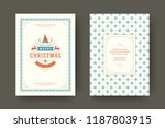 christmas greeting card design... | Shutterstock .eps vector #1187803915