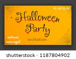 happy halloween party... | Shutterstock .eps vector #1187804902