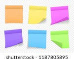 collection of different colored ... | Shutterstock .eps vector #1187805895