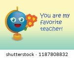a card by the day of the... | Shutterstock .eps vector #1187808832