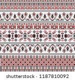 hungarian pixel pattern for... | Shutterstock .eps vector #1187810092