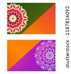 relax cards with mandala formed ... | Shutterstock .eps vector #1187816092