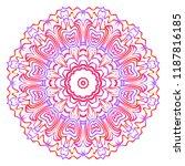 round pattern flower mandala.... | Shutterstock .eps vector #1187816185
