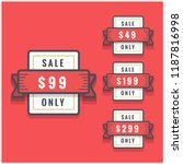 sale 49 99 199 and 299 only... | Shutterstock .eps vector #1187816998