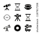 9 watch icons with cogwheel and ... | Shutterstock .eps vector #1187817208