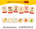 matching children educational... | Shutterstock .eps vector #1187819515