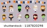 mega set of halloween symbols.... | Shutterstock .eps vector #1187820298