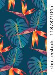 tropical bright pattern with... | Shutterstock .eps vector #1187821045