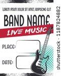 rock music concert poster... | Shutterstock .eps vector #1187824882