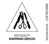 simple black sharpening... | Shutterstock .eps vector #1187824888