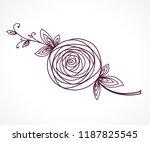 rose. stylized flower symbol.... | Shutterstock .eps vector #1187825545