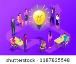 people work in a team and... | Shutterstock .eps vector #1187825548