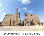 entrance to luxor temple with... | Shutterstock . vector #1187825782