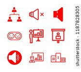seminar icons set with team ... | Shutterstock .eps vector #1187828305