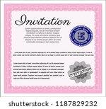 pink retro vintage invitation.... | Shutterstock .eps vector #1187829232