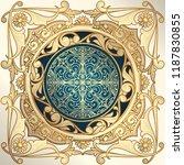 golden ornate decorative... | Shutterstock .eps vector #1187830855