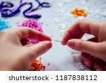 close up hands of woman... | Shutterstock . vector #1187838112