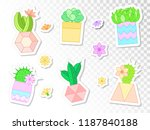 vector set of stickers with... | Shutterstock .eps vector #1187840188
