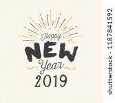 handmade style greeting card  ... | Shutterstock .eps vector #1187841592