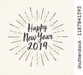 handmade style greeting card  ... | Shutterstock .eps vector #1187841595