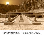 The Mortuary Temple of Hatshepsut at sunrise
