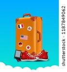 realistic traveler luggae  ... | Shutterstock .eps vector #1187849062
