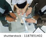 view from the top.business team ... | Shutterstock . vector #1187851402