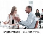 young business colleagues...   Shutterstock . vector #1187854948