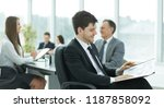 business man at office with his ...   Shutterstock . vector #1187858092