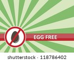 Egg free banner for food allergy concept - stock vector