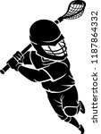 kids lacrosse play | Shutterstock .eps vector #1187864332
