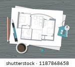 workplace   construction... | Shutterstock .eps vector #1187868658
