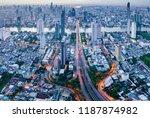aerial view of bangkok skyline... | Shutterstock . vector #1187874982