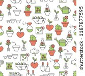 vector seamless pattern with... | Shutterstock .eps vector #1187877595