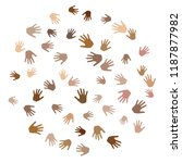 hands with skin color diversity ... | Shutterstock .eps vector #1187877982