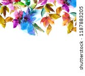 waterrcolor flowers. floral... | Shutterstock . vector #1187883205