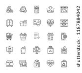 collection of 25 store outline... | Shutterstock .eps vector #1187884042