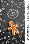christmas theme  gingerbread...   Shutterstock .eps vector #1187884228