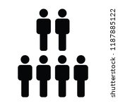 human resources icon vector... | Shutterstock .eps vector #1187885122