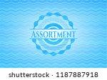 assortment light blue water... | Shutterstock .eps vector #1187887918